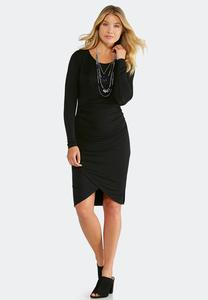 Black Tulip Hem Dress