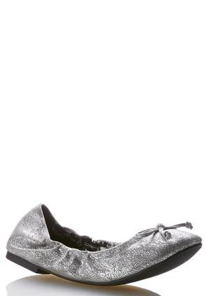 Metallic Scrunch Flats | Tuggl