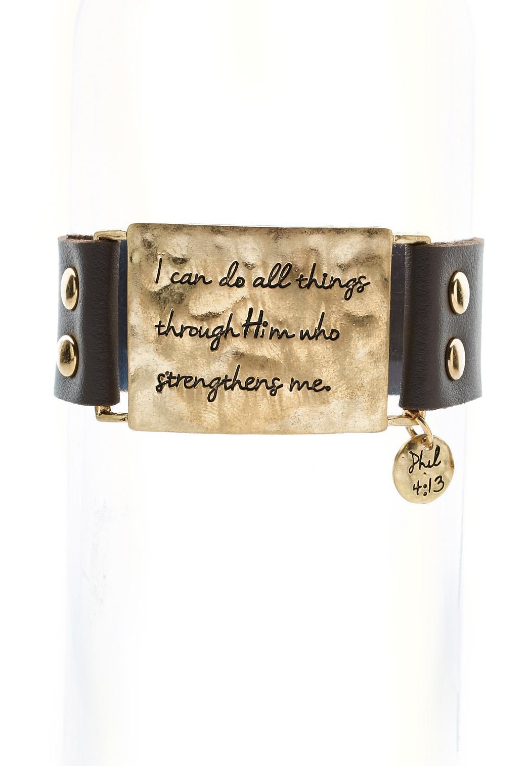 Philippians Scripture Wrap Bracelet