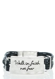 Walk in Faith Magnetic Bracelet