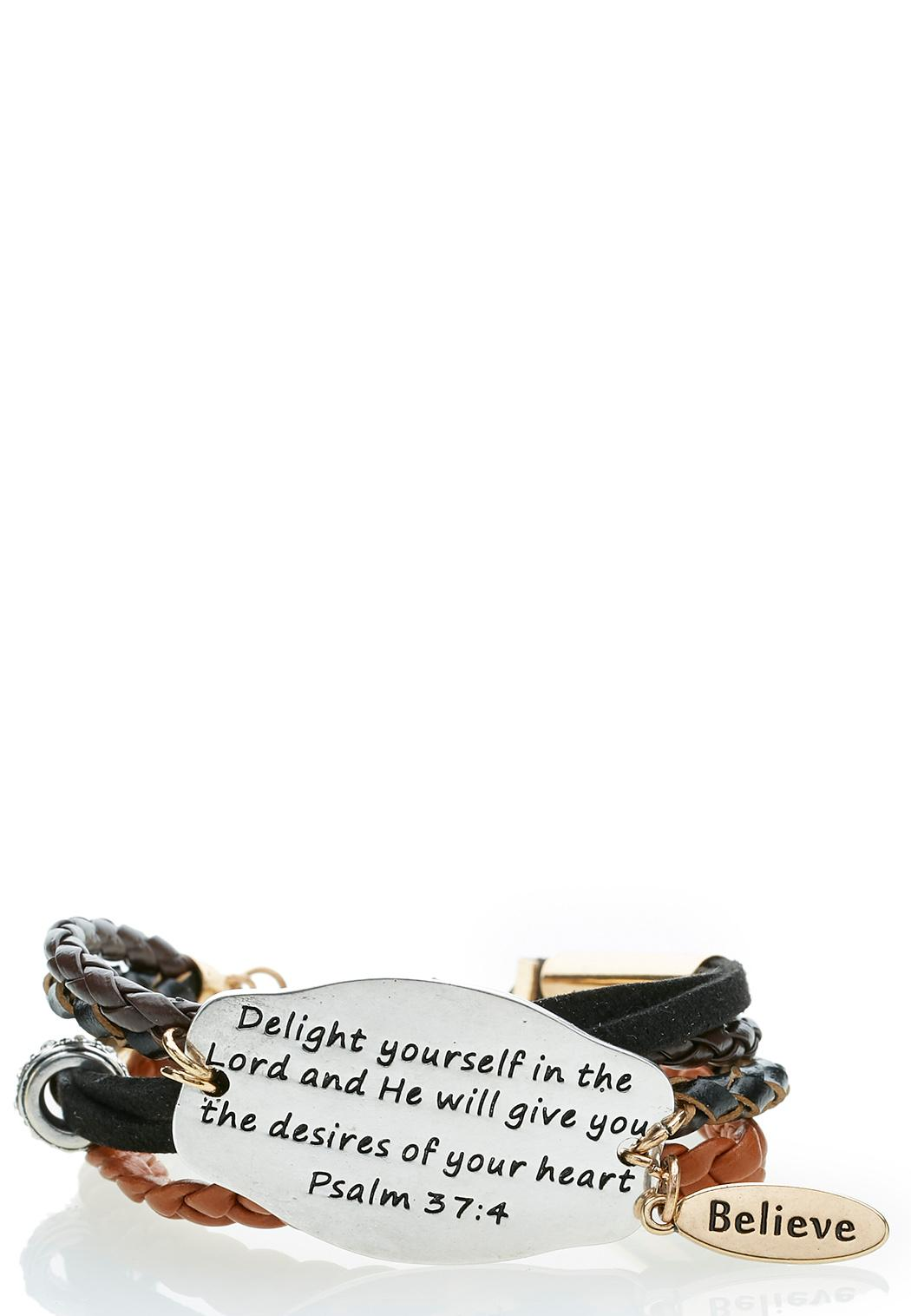Inspirational Layered Cord Bracelet