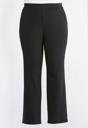 Slim Leg Ponte Pants- Plus