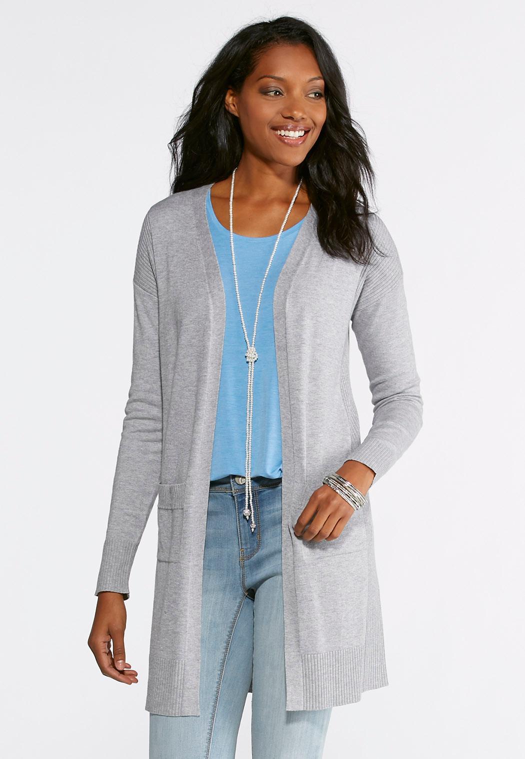 Ribbed Cardigan Sweater Cardigans & Shrugs Cato Fashions