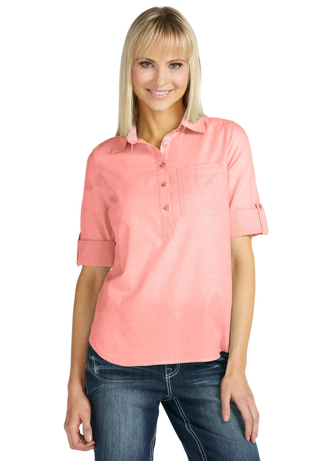 Cato fashions for Plus size chambray shirt
