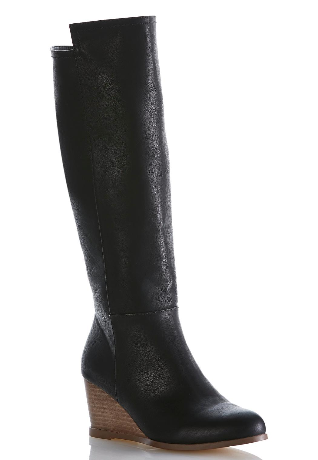 wide width wedge heel boots cato fashions