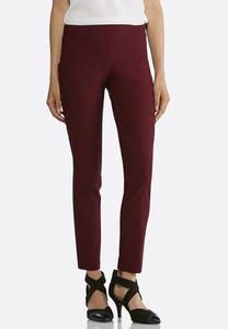 Pull-On Solid Slim Pants