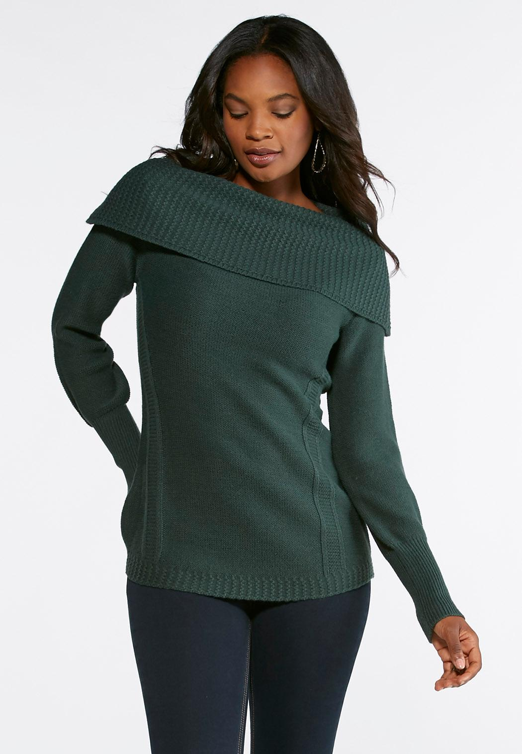 Off The Shoulder Sweater Pullovers Cato Fashions