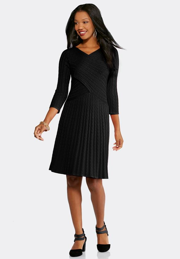 Plus Size Twist Front Cable Sweater Dress Plus Sizes Cato Fashions