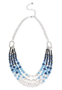 Ombre Rondelle Bead Necklace
