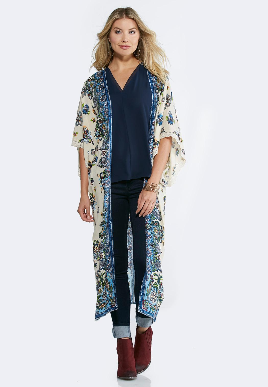 Floral Duster Kimono Kimonos Cato Fashions