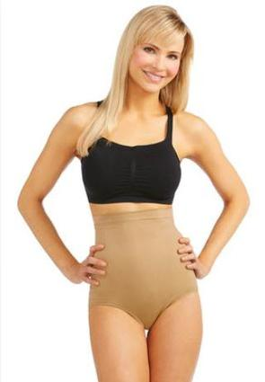 Nude High Waist Seamless Panties- Plus