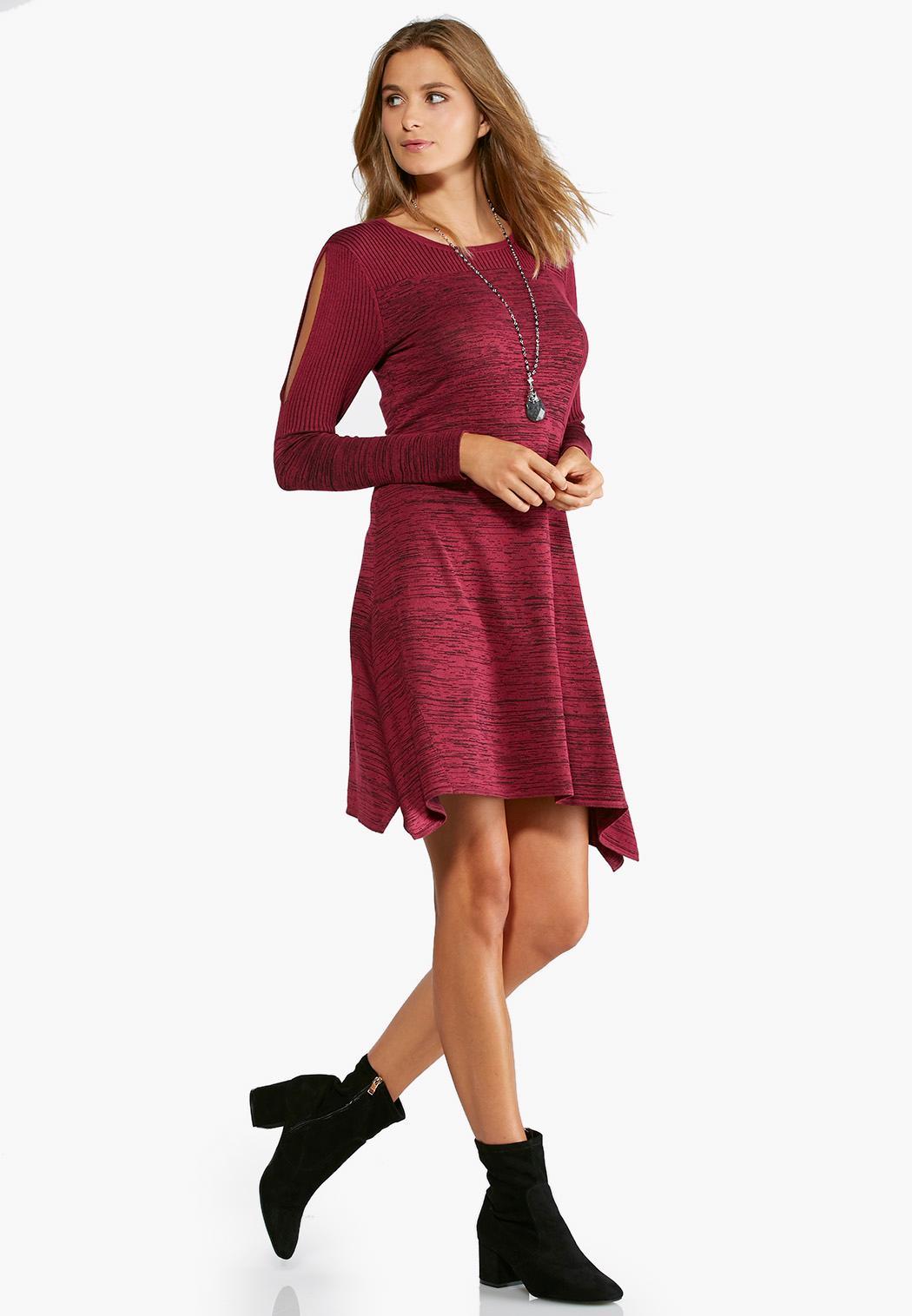 plus size slit sleeve sweater dress plus sizes cato fashions