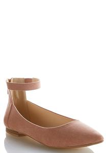 Wide Width Ankle Strap Flats