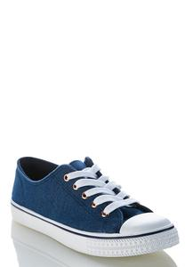 Denim Lace Up Sneakers