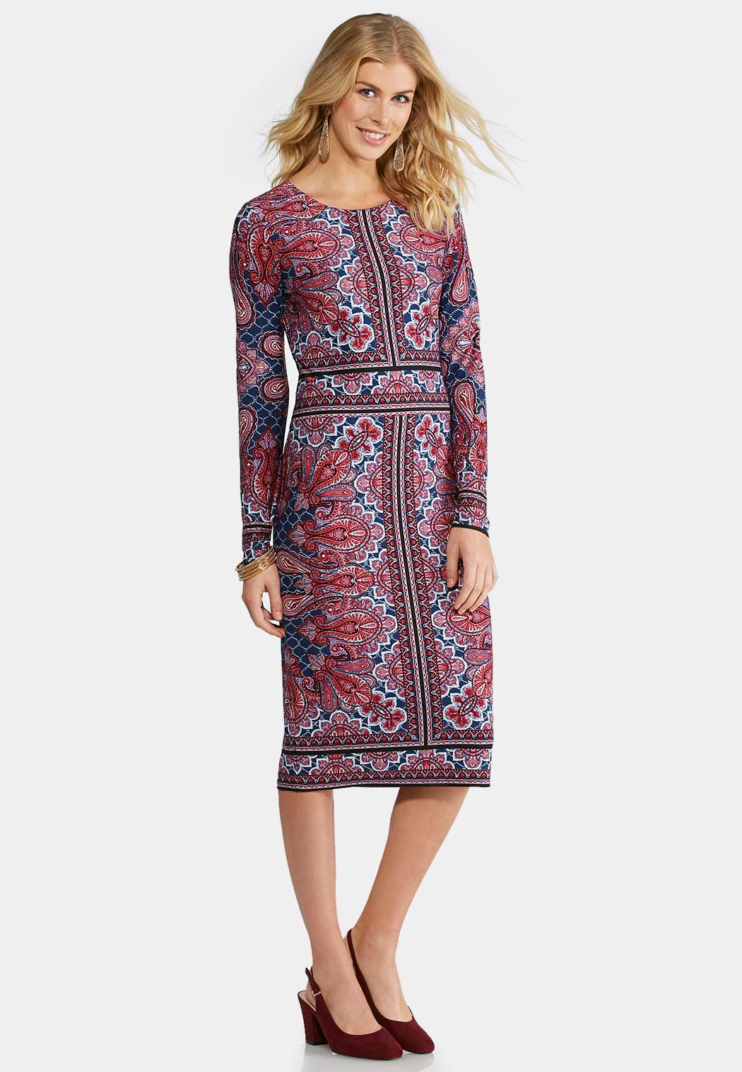 plus size paisley midi dress midi cato fashions