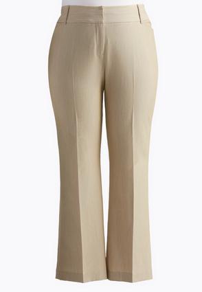 Curvy Fit Trouser Pants-Plus Petite | Tuggl