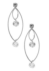 Floating Rhinestone Dangle Earrings