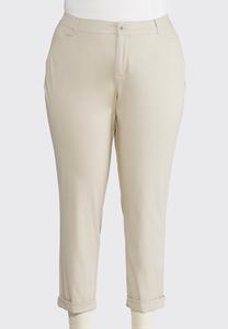 Chino Ankle Pants-Plus