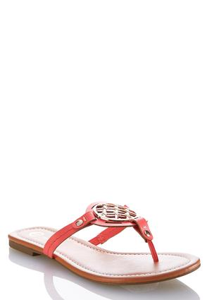 Medallion Thong Sandals | Tuggl