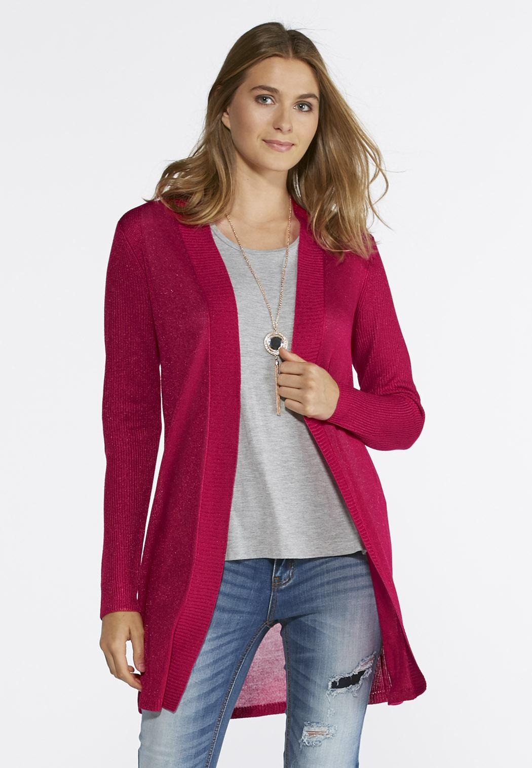 Ribbed Duster Cardigan-Plus Cardigans & Shrugs Cato Fashions