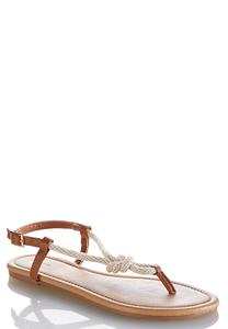 Knotted Rope Slingback Sandals