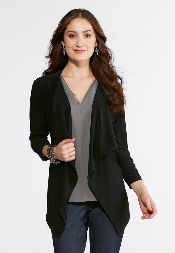 draped fashion fashions jacket l default jackets cato drapes solid