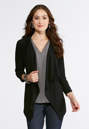Solid Draped Jacket
