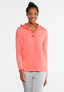 Lace Up Athleisure Hoodie
