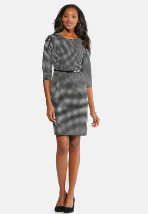Textured Checkered Sheath Dress at Cato in Brooklyn, NY | Tuggl