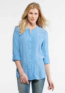 Pintucked Boyfriend Tunic