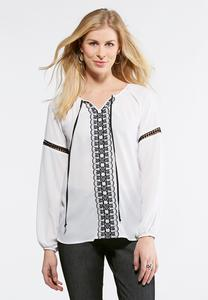 Embellished Poet Top