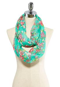 Floral Bouquet Infinity Scarf