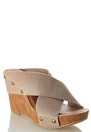 Stretch Crossband Wedges | Tuggl