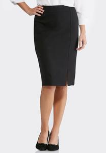 Solid Ponte Pencil Skirt