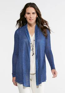 Lace Back Hacci Knit Cardigan