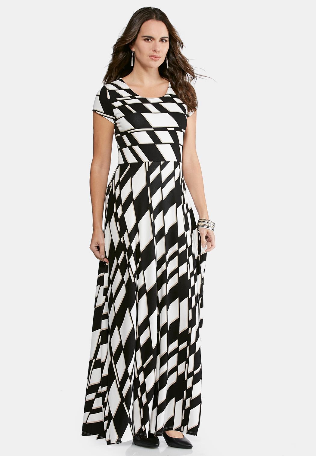 plus size geo striped maxi dress maxi cato fashions