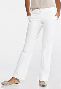 Sateen Trouser Pants