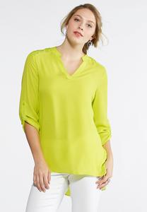 Lace Yoke Top- Plus