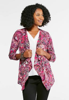 Mixed Paisley Draped Jacket