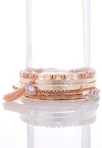 Assorted Rose Gold Bangle Set