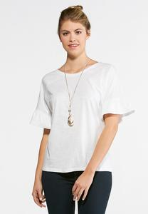 Ruffle Sleeve Dolman Top