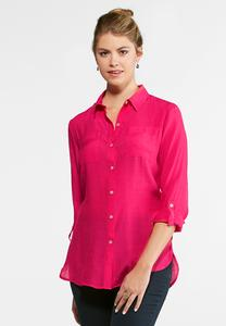 High-Low Boyfriend Shirt