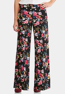Toss The Bouquet Palazzo Pants-Petite
