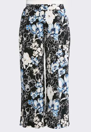 Blooming Pull- On Palazzo Pants- Plus