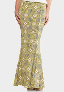 Gold Medallion Mermaid Maxi Skirt-Plus