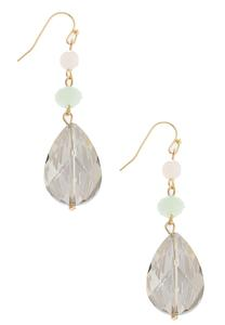 Faceted Glass Linear Earrings