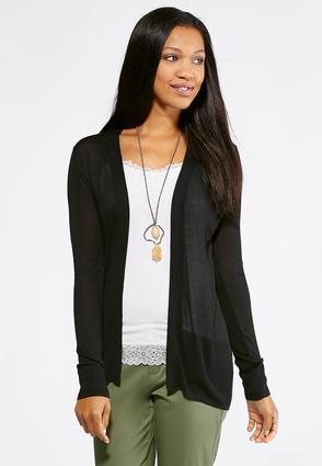 Pointelle Back Cardigan Sweater at Cato in Brooklyn, NY | Tuggl