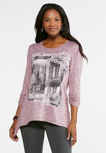 New York Embellished Hacci Top- Plus