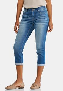 Shape Enhancing Cropped Jeans