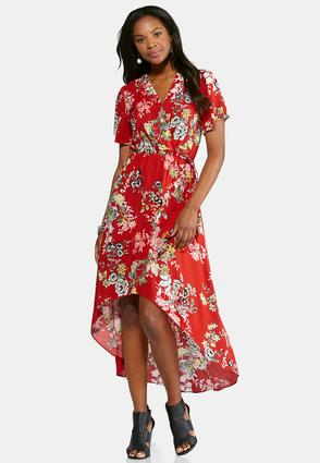 Petite Surplice Flutter Sleeve Maxi Dress